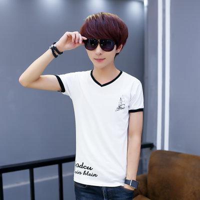 【夏季软件初中高中学生T恤男14-16-18岁修身刷短袖中题哪些有高图片