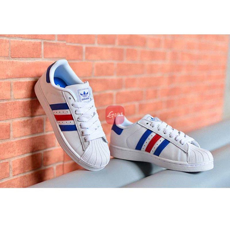 阿迪达斯男鞋贝壳头板鞋女鞋adidas三叶草金标superstar休闲鞋 c77124