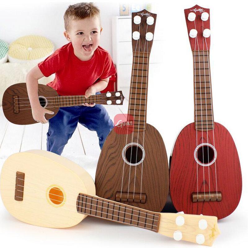 儿童迷你水果尤克里里四弦水果小吉他早教乐器小玩具【可弹奏】