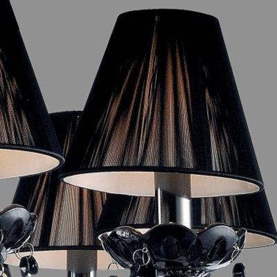 黑色水晶吊灯欧式蜡烛灯现代简约客厅餐厅卧室复古水晶灯具 8008(带灯