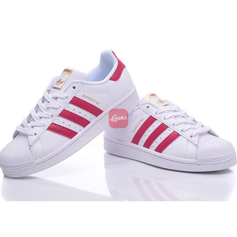 阿迪达斯男鞋三叶草板鞋Superstar金标贝壳头女鞋小白鞋C77124