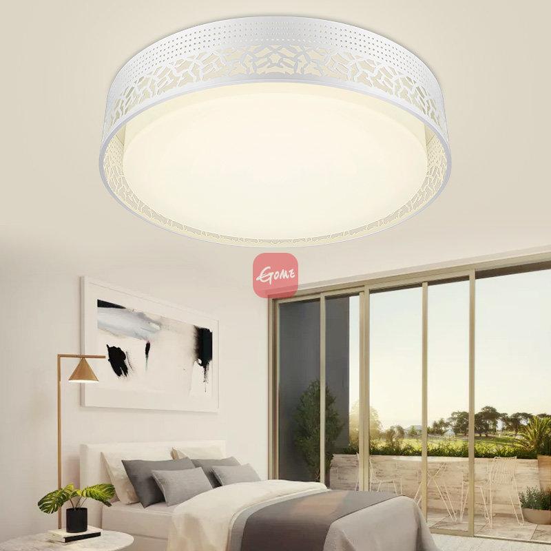 雷士照明 圆形led主卧室吸顶灯具 现代简约温馨浪漫餐厅18w圆形海棠