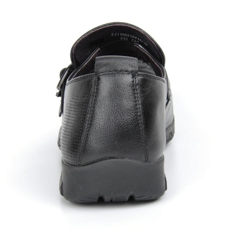 意尔康男鞋套商务休闲真皮皮鞋舒适透气男士单鞋单层皮男鞋61341(红棕色 61341 44)第4张商品大图