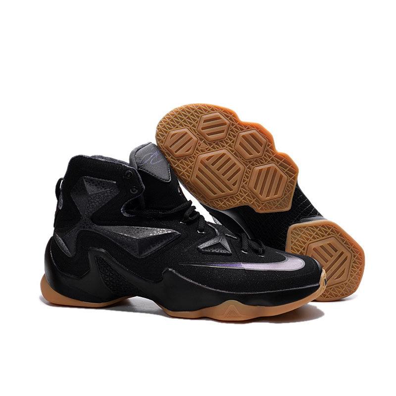 专柜耐克NIKE 詹姆斯13代全明星战靴 精英高帮气垫圣诞版战靴篮球鞋(黑骑士 41)第5张商品大图